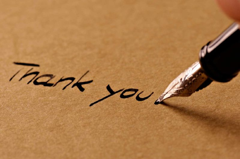 Perfect advice for your next thank you note